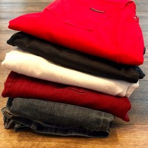 5 pairs of HUDSON jeans size 27